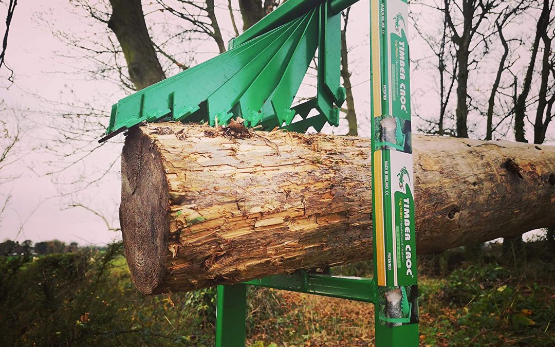 Timber Croc Log Holder in action, demo video from our customer