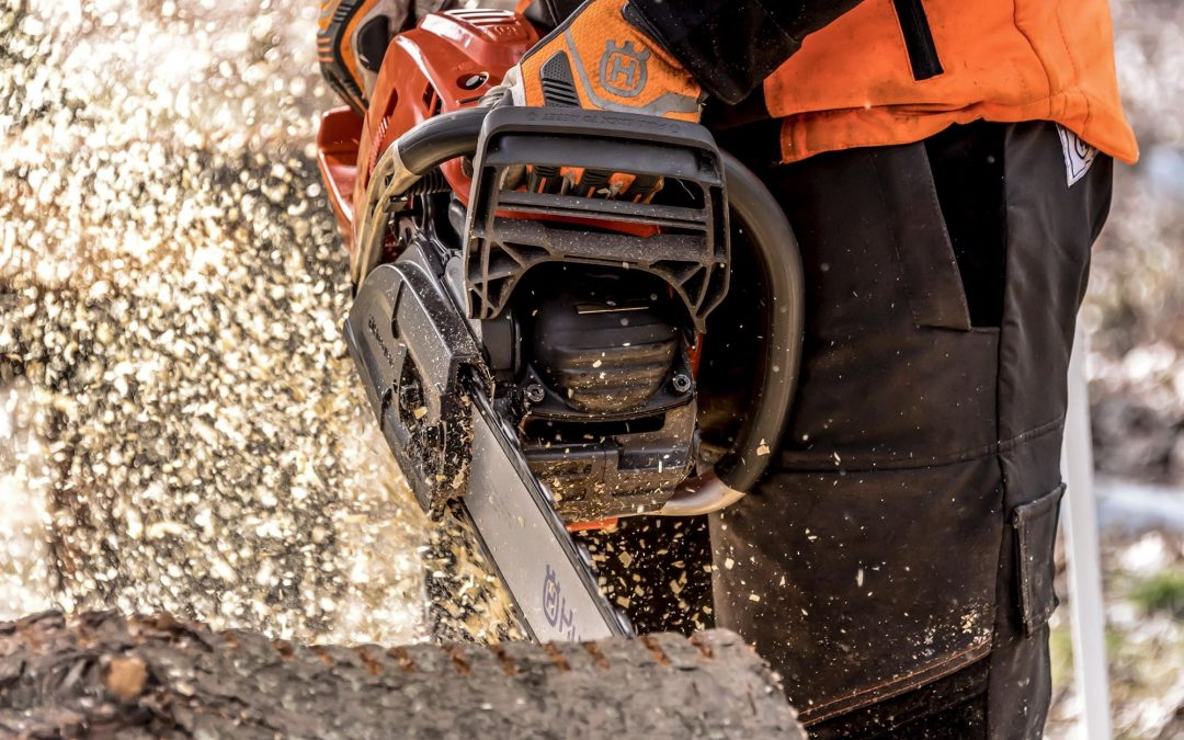 Prevent your chainsaw from getting stuck using the cross-cutting technique